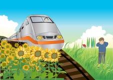 Ich mag Züge stock abbildung