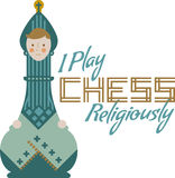 Ich spiele Schach Stockfotografie