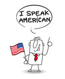 Ich spreche Amerikaner Stockfotografie