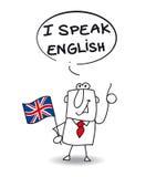 Ich spreche Englisch lizenzfreie abbildung