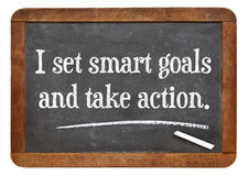 Ich stelle intelligente Ziele ein und ergreife Maßnahmen Stockfoto
