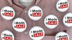 Ich stellte ein Verkaufs-Knöpfe die Stifte her, die Abkommen-Verkäufer verkaufen lizenzfreie abbildung