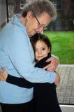 Ich und Großmutter lizenzfreie stockbilder