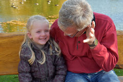 Ich und Großvater Lizenzfreie Stockfotos