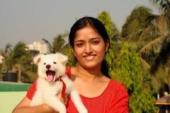 Ich und mein reizender Hund Lizenzfreies Stockfoto