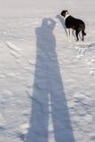 Ich und mein Schatten Stockfoto