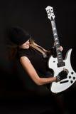 Ich und meine Gitarre Lizenzfreie Stockfotos