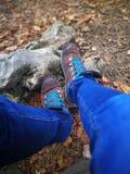 Ich und meine Schuhe lizenzfreies stockfoto