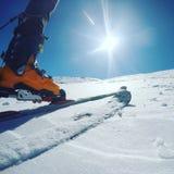 Ich und skialp Stockfoto