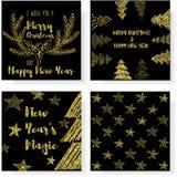Ich wünsche Ihnen frohen Weihnachten und ein guten Rutsch ins Neue Jahr Stockbild