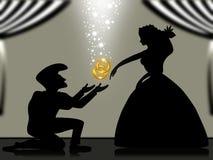 Ich werde zu mir geheiratet. Stockbild