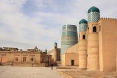 Ichan Kala na cidade de Khiva, Usbequistão Fotografia de Stock Royalty Free