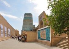 Ichan Kala under festivalen Arslar Sadosi (ekot av århundraden), Khiva Arkivfoton