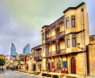 Icheri Sheher, die alte Stadt von Baku Stockbilder