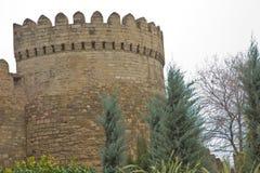 Icheri sheher w Baku Azerbejdżan Brama stary forteca, wejście Baku stary miasteczko Baku, Azerbejdżan Ściany Stary miasto ja Zdjęcie Royalty Free