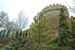 Icheri sheher w Baku Azerbejdżan Brama stary forteca, wejście Baku stary miasteczko Baku, Azerbejdżan Ściany Stary miasto ja Fotografia Royalty Free