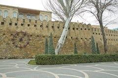 Icheri sheher w Baku Azerbejdżan Brama stary forteca, wejście Baku stary miasteczko Baku, Azerbejdżan Ściany Stary miasto ja Obrazy Stock