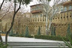 Icheri sheher w Baku Azerbejdżan Brama stary forteca, wejście Baku stary miasteczko Baku, Azerbejdżan Ściany Stary miasto ja Zdjęcia Stock