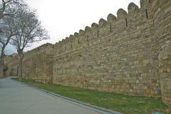 Icheri sheher w Baku Azerbejdżan Brama stary forteca, wejście Baku stary miasteczko Baku, Azerbejdżan Ściany Stary miasto ja Obrazy Royalty Free