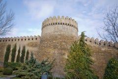 Icheri sheher w Baku Azerbejdżan Brama stary forteca, wejście Baku stary miasteczko Baku, Azerbejdżan Ściany Stary miasto ja Obraz Royalty Free