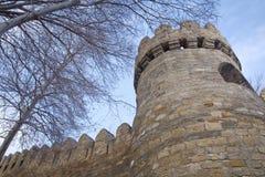 Icheri sheher w Baku Azerbejdżan Brama stary forteca, wejście Baku stary miasteczko Baku, Azerbejdżan Ściany Stary miasto ja Obraz Stock