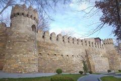 Icheri sheher w Baku Azerbejdżan Brama stary forteca, wejście Baku stary miasteczko Baku, Azerbejdżan Ściany Stary miasto ja Zdjęcia Royalty Free