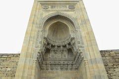 Icheri sheher w Baku Azerbejdżan Brama stary forteca, wejście Baku stary miasteczko Baku, Azerbejdżan Ściany Stary miasto ja Fotografia Stock