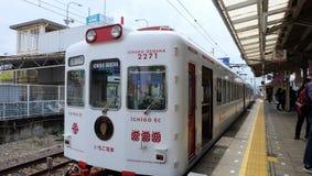 Ichigo草莓火车,和歌山 免版税库存图片
