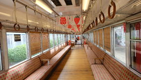 Ichigo草莓火车,和歌山 免版税图库摄影