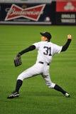 Ichiro Suzuki-praktijk die houding werpen Stock Foto