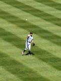 Ichiro Suzuki werpt bal van outfield Royalty-vrije Stock Fotografie