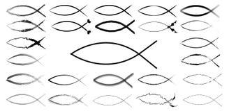 ichthyic знак рыб Иисуса Стоковое Фото