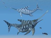 Ichthyosaur Eurhinosaurus ilustracja wektor