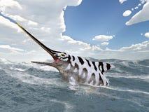Ichthyosaur Eurhinosaurus Stock Photography