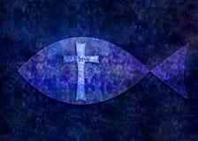 Ichtys kristentecken arkivbild