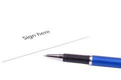ici signe Photos libres de droits