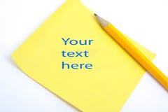 ici texte votre Images stock