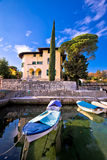 Icici village waterfront in Opatija riviera. Turquoise sea and blue sky, Kvarner, Croatia Stock Images