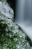 Icicle. Seclusion with icicles near stream Royalty Free Stock Photo
