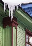 Icicle. Thawing icicle Royalty Free Stock Photography