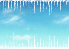 Icicle background Stock Photography