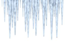 Icicle Border Royalty Free Stock Photos