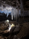 Icicle in the cave. Royalty Free Stock Image