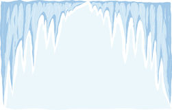 Icicle. Drawing of a stylized icicle Stock Photos