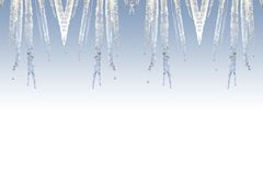 Icicle frame Stock Photography