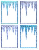 Icicle Frames Royalty Free Stock Photos