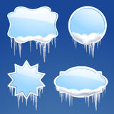 Icicle Frames Set Stock Images