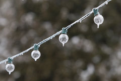 Icicle lights. Royalty Free Stock Photos