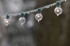 Icicle lights. Royalty Free Stock Image