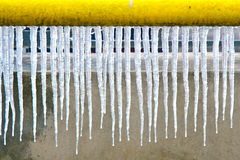 Icicle line-up Royalty Free Stock Photos